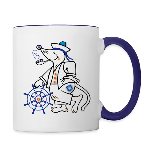 Matrose, maritim, Ahoi - Tasse zweifarbig
