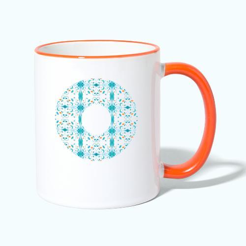 Hippie flowers donut - Contrasting Mug