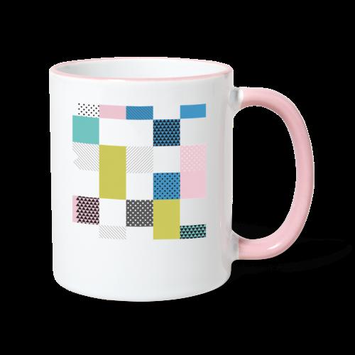 Abstract art squares - Contrasting Mug