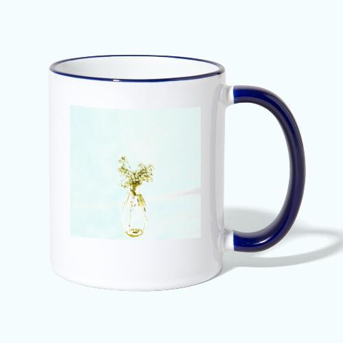 Abstract floral minimalism watercolor - Contrasting Mug