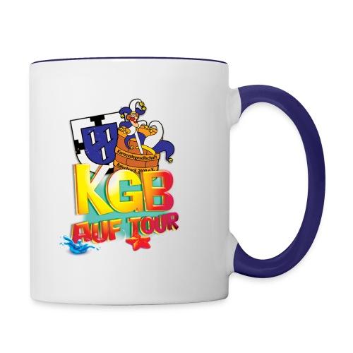 kgb auf tour 2015 test png - Tasse zweifarbig