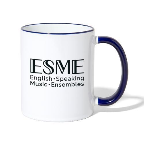 ESME Logo Schwartz - Tasse zweifarbig