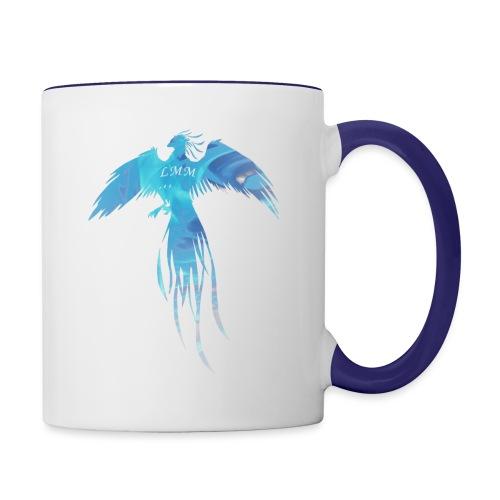 Phoenix blue fire png - Mug contrasté
