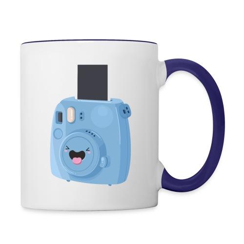 Appareil photo instantané bleu - Mug contrasté