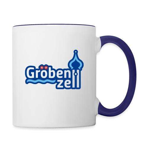 Groebenzell-Logo_4c-Outli - Tasse zweifarbig