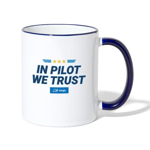 In pilot we trust - Contrasting Mug