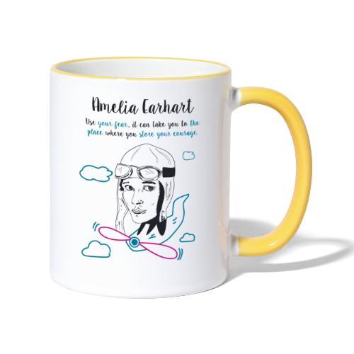 Amelia Earhart - Contrasting Mug