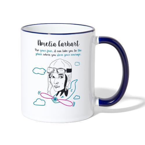 Amelia Earhart - Tazze bicolor