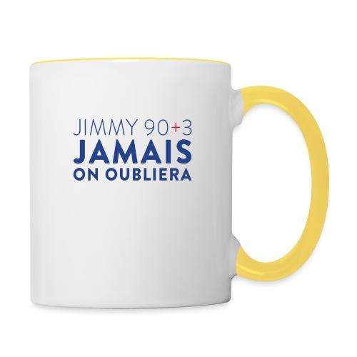 Jimmy 90+3 : Jamais on oubliera - Mug contrasté