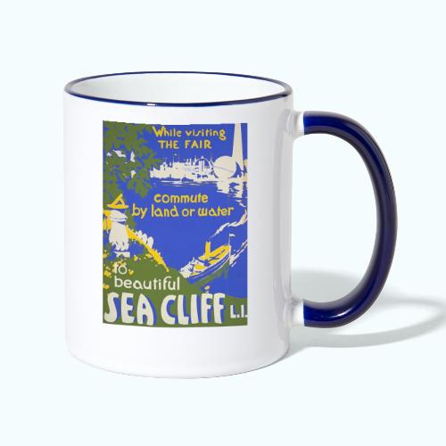 Lake travel vintage poster - Contrasting Mug