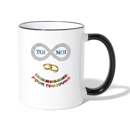 Toi et moi pour toujours - Mug contrasté