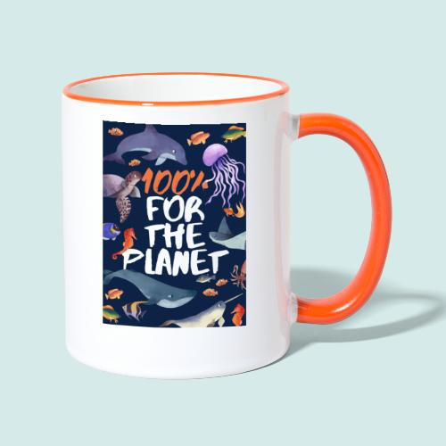 100% for the planet - Tasse zweifarbig
