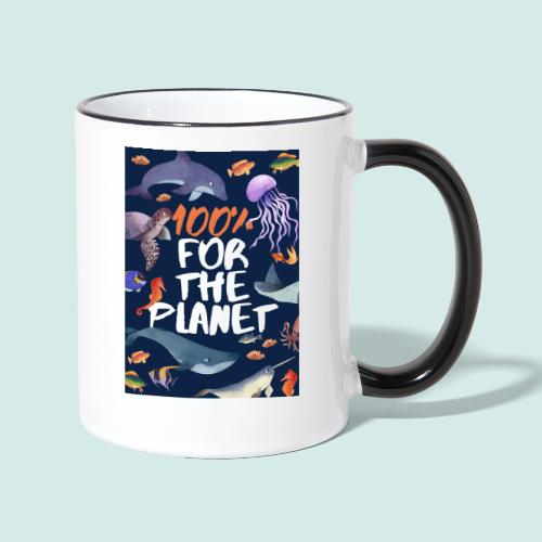 100% for the planet - Tasse zweifarbig