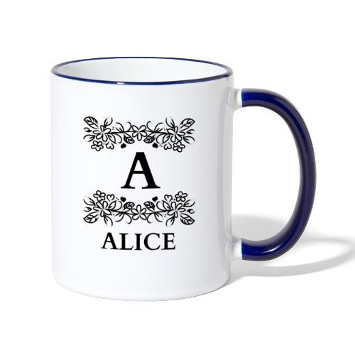 MUG:ALICE - Mug contrasté