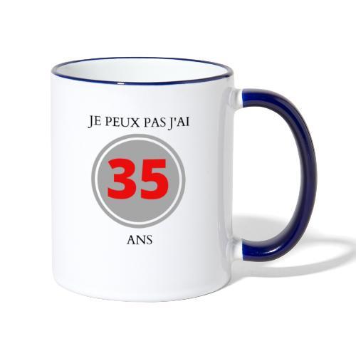 MUG: JE PEUX PAS J'AI 35 ANS - Mug contrasté