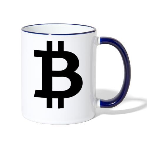 Bitcoin black - Tvåfärgad mugg