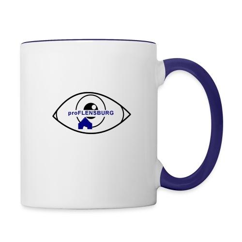 logo-durchsichtig - Tasse zweifarbig