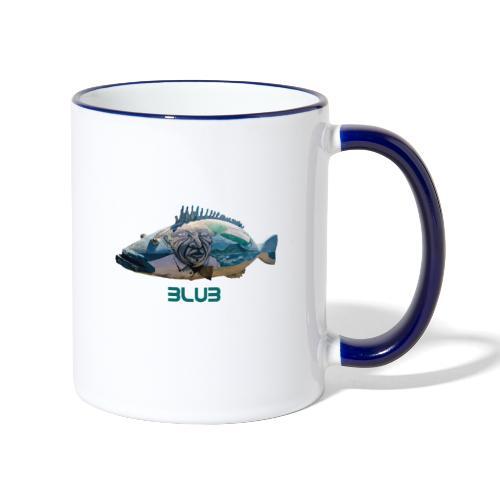 Fisch - Tasse zweifarbig