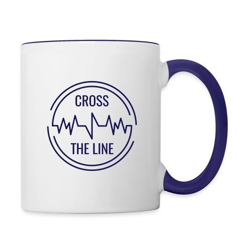CROSS THE LINE - Mug bleu - Mug contrasté