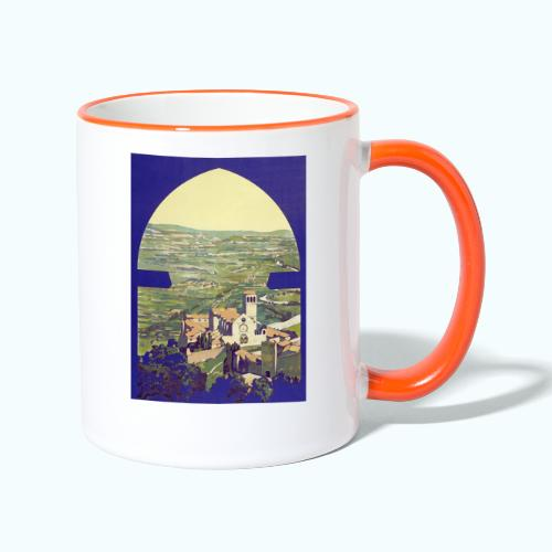 Tuscany vintage travel poster - Contrasting Mug