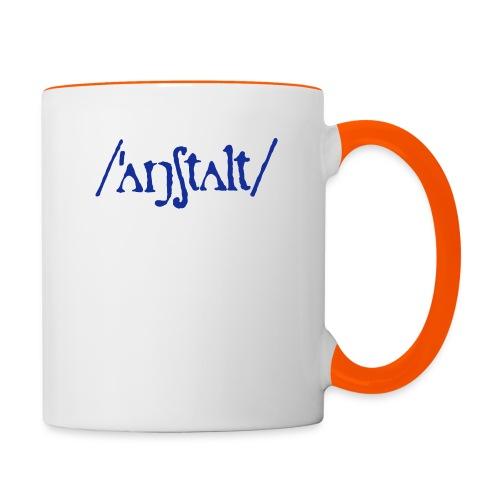 /'angstalt/ logo - Tasse zweifarbig
