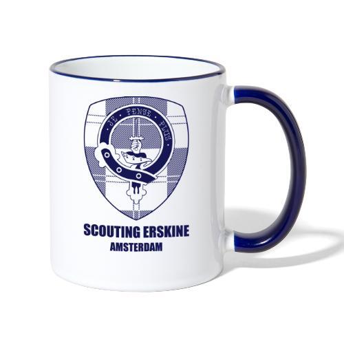Scouting Erskine_tekst - Mok tweekleurig