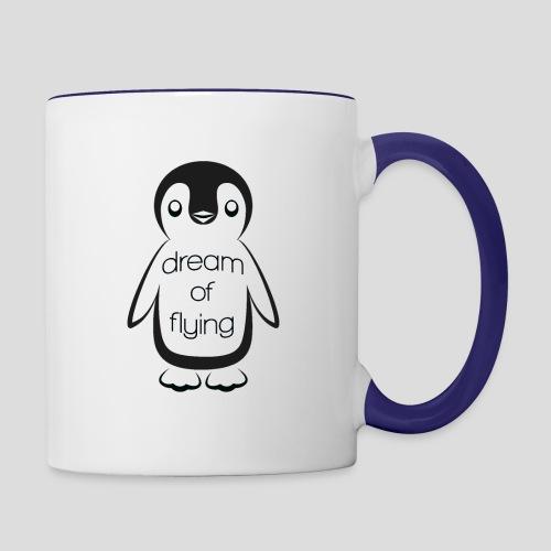 Dream of Flying Pinguin - Contrasting Mug