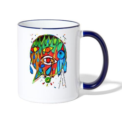 Vertrauen - Tasse zweifarbig