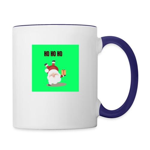 acrobatic santa - Contrasting Mug