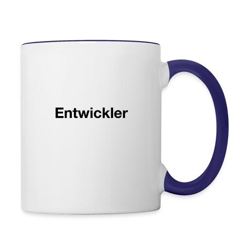 entwickler - Tasse zweifarbig