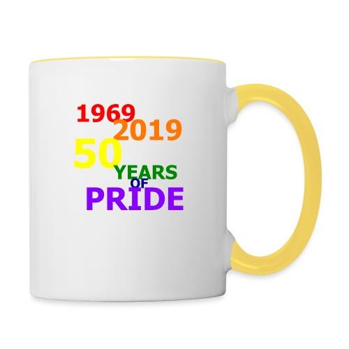 50 Jahre CSD - Tasse zweifarbig