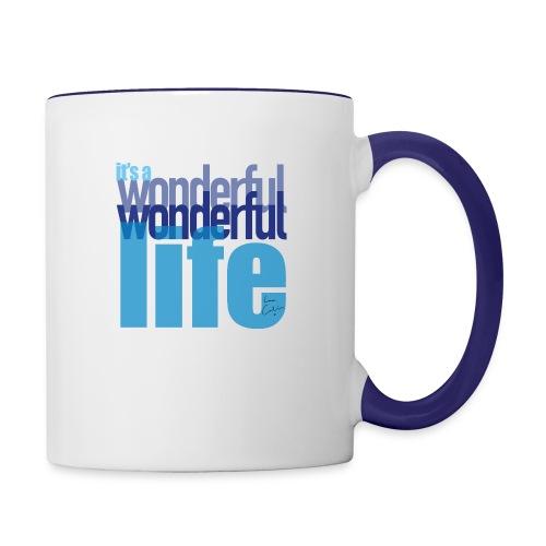It's a wonderful life blues - Contrasting Mug