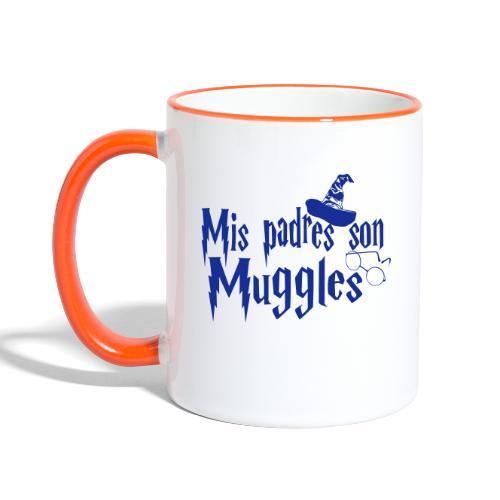 Mis padres son Muggles - Taza en dos colores