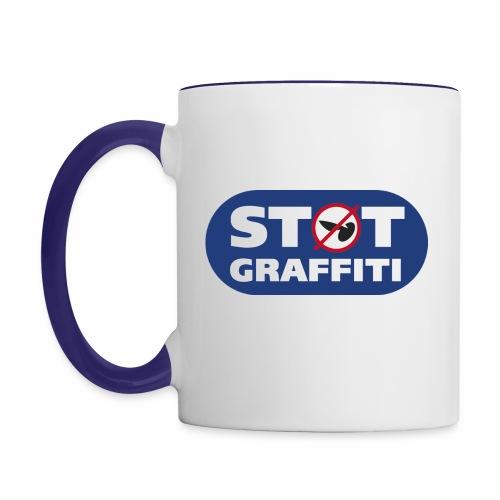 støt graffiti - blk logo - Tofarvet krus