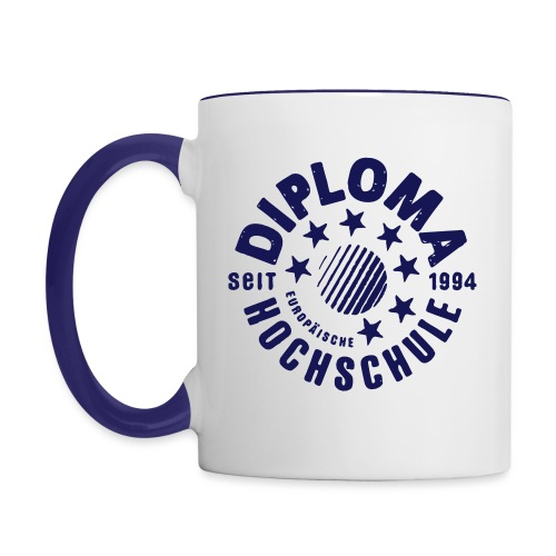 DIPLOMA vintage - Tasse zweifarbig