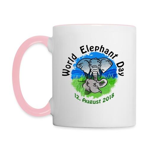 World Elephant Day 2018 - Tasse zweifarbig