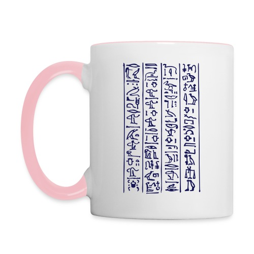 Hieroglyphen - Tasse zweifarbig