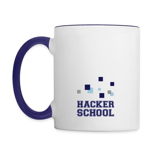 Hacker School Logo mit Pixeln - Tasse zweifarbig