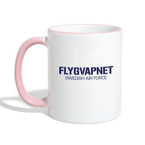 FLYGVAPNET - SWEDISH AIR FORCE - Tvåfärgad mugg