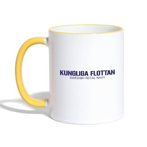 Kungliga Flottan - Swedish Royal Navy - Tvåfärgad mugg