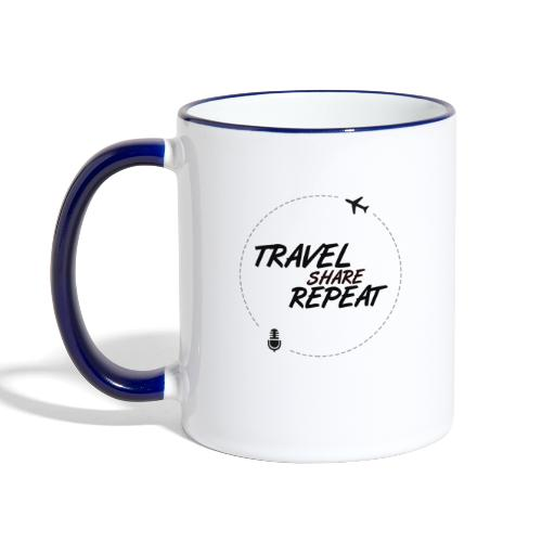Travel Share Repeat Logo V2 - Mug contrasté