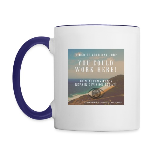 Automnicon. Are you tired of your day job? - Contrasting Mug