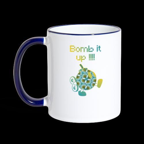 Bomb It Up : Yellow Power !!! - Mug contrasté