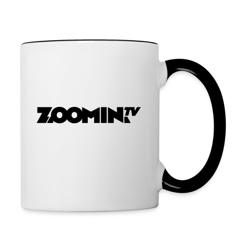 4658 2CZoomin BW logo - Contrasting Mug