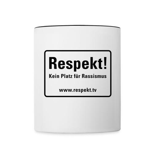 Respekt Schild - Tasse zweifarbig