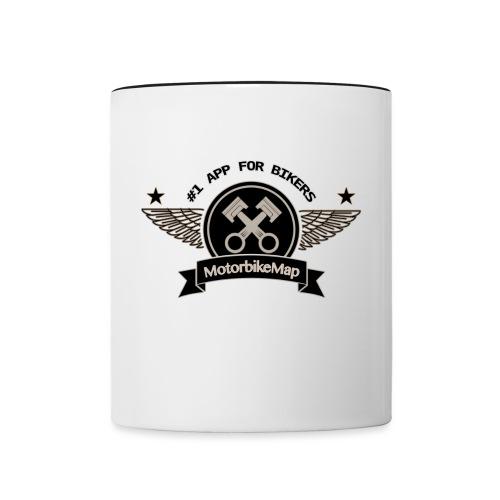 motorbikemap_logo_gray - Tasse zweifarbig