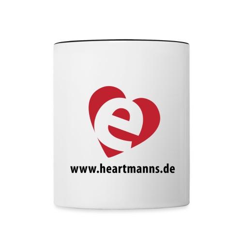 H(e)artmanns' Herz schw. - Tasse zweifarbig