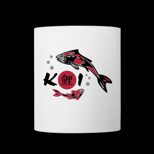 Nishikigoi & Kanji - Tasse zweifarbig