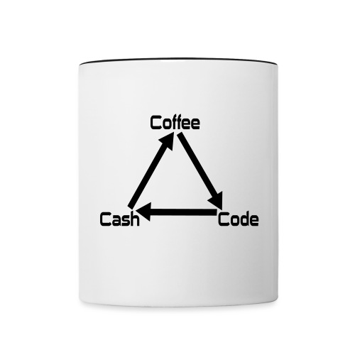 Coffee Code Cash Softwareentwickler Programmierer - Tasse zweifarbig