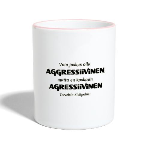 Aggressivinen kielipoliisi - Kaksivärinen muki